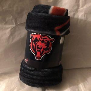 Chicago Bears Plush Throw NWT